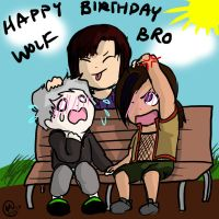 Happy Birthday to Wolfbro! by Wings-of-the-Moon