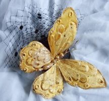 Fascinator - Gold Butterfly by rascalkosher