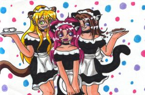 FC: Maid-girl Trio by Miss-Mae