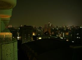 Tokyo at Night - Hotel Shot by Ohanzee
