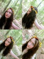 Indian Summer Floral Crown by ValkyrieOfODIN