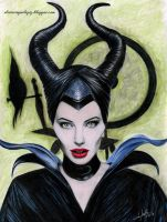 Malificent Drawing Color (Angelina Jolie) by iSaBeL-MR