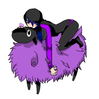 Hinamoto and her Sheep by replica-luna