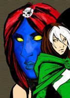 Rogue WIP 2 .:Mystique:. by BamBam3k2