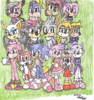 Sonic and friends by MidtheChaosPrincess