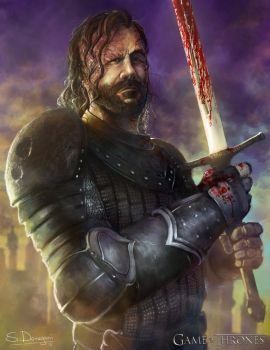 Sandor Clegane - The Hound (Game of Thrones) by steven-donegani