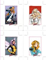 Marvel Dangerous Divas cards 1 by SpiderGuile