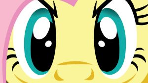 Fluttershy Glaring Wallpaper by EvilDocterMcBob