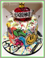 F**K CaNcEr Cake by gertygetsgangster