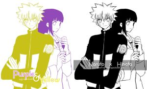 Purple and Yellow by josephine12cute