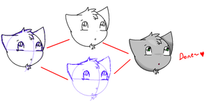 A Cat I drew with my Mouse by Kittymuffins98