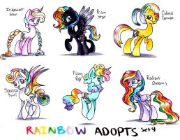 MLP Rainbow-Themed Adopts Auction set 5 *CLOSED* by frostykat13