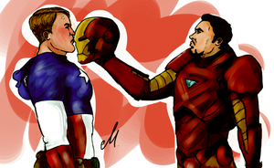 Marvel: TonySteve #4 by Scarlett-pants