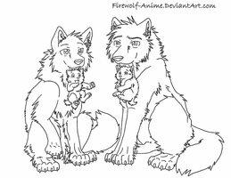 Wolves and Puppies by Firewolf-Anime
