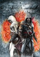 Assassin's Creed Revelations Altair and Ezio by Bajanoski