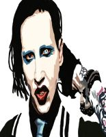 Marilyn Manson  No Pen work 4 by daylover1313