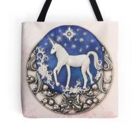 Unicorn Tote Bag by DeidreDreams