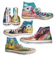 Adventure Time Shoes by thetoaster