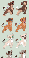 Cheap lion cub adoptables - 2 LEFT by PoonieFox