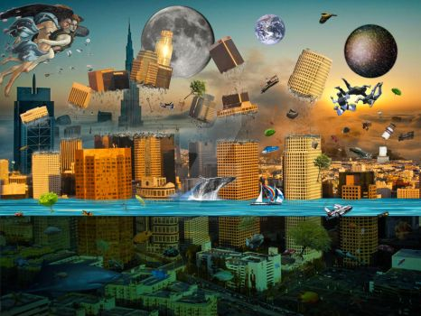 Gravity Confusion City Under Siege by BlakeHenryRobson
