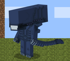 Minecraft Xenomorph by s3ro-tan