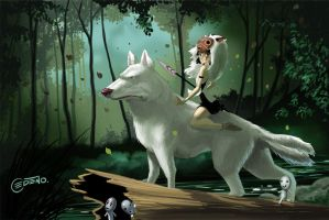 Mononoke and Moro by allanced