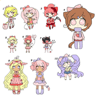 NOW FREE ADOPTS~!!! by Chibii-chii