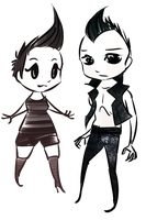 Chibi Zhenzhu and chibi Maksim by haymakers