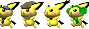 SSB4 Pichu Palletes (My Take) by PichuThePokemon