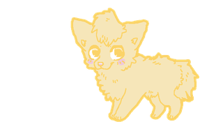 yellow chibi pup by SweetTerry