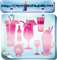 Drinks Photoshop Brushes by Coby17