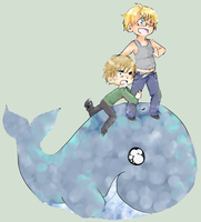 APH - USUK - Surfing by ChaoticMiko
