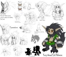 Young Werewolf Link Reference by Chibi-Tediz