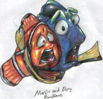 Marlin and Dory by r-williams