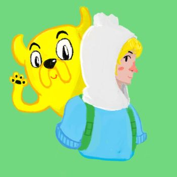 Finn And Jake 30 minute drawing by D4rkfortman