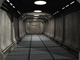Sci Fi Corridor by Digger2000