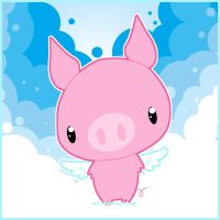 .:Flying Pig:. by PhantomCarnival
