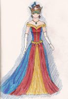 Masquerade Ball Gown by melzika