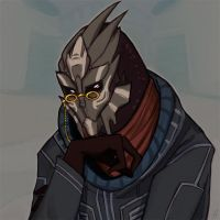 Classy old turian by Nimuell
