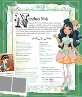 Ever After High Oc Bio - Nymphaea Nixie by chunk07x