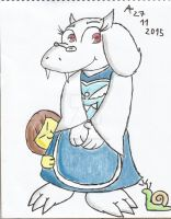 The Goat Mom and her Human Kid by CAPTAIN-CHETO