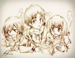 Childhood Days : Attack on Titan by MaryM8D