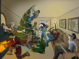 Merry Christmas, smaller file by Ziddius