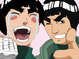 Rock Lee and Might Guy by TheMerthyrRiot