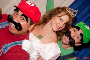 Super Mario Bros. and Princess Peach by creativesnatcher69