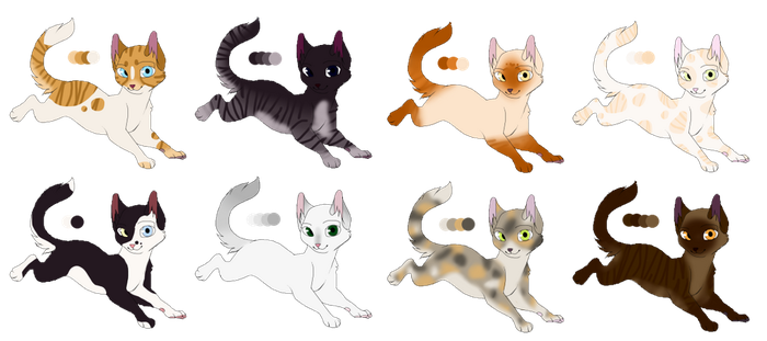 OPEN Realistic Cat Adopts 4 by StarphishyAdopts