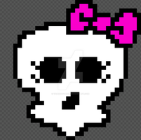 Monster High skull logo pixel by DarkRoseDiamond123