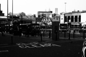 Queen's square bus station by MissKittyTwisted