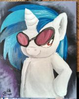 Vinyl Scratch Painting by VictoryDanceOfficial