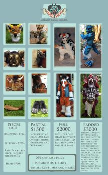 Artslave's Price Guide by ArtSlavefursuits